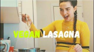 Cooking VEGAN LASAGNA for the FIRST TIME   Quarantine Activities