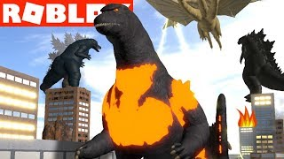 Roblox Godzilla Proyecto Kaiju Compramos BURNING GODZILLA YG Family Gaming