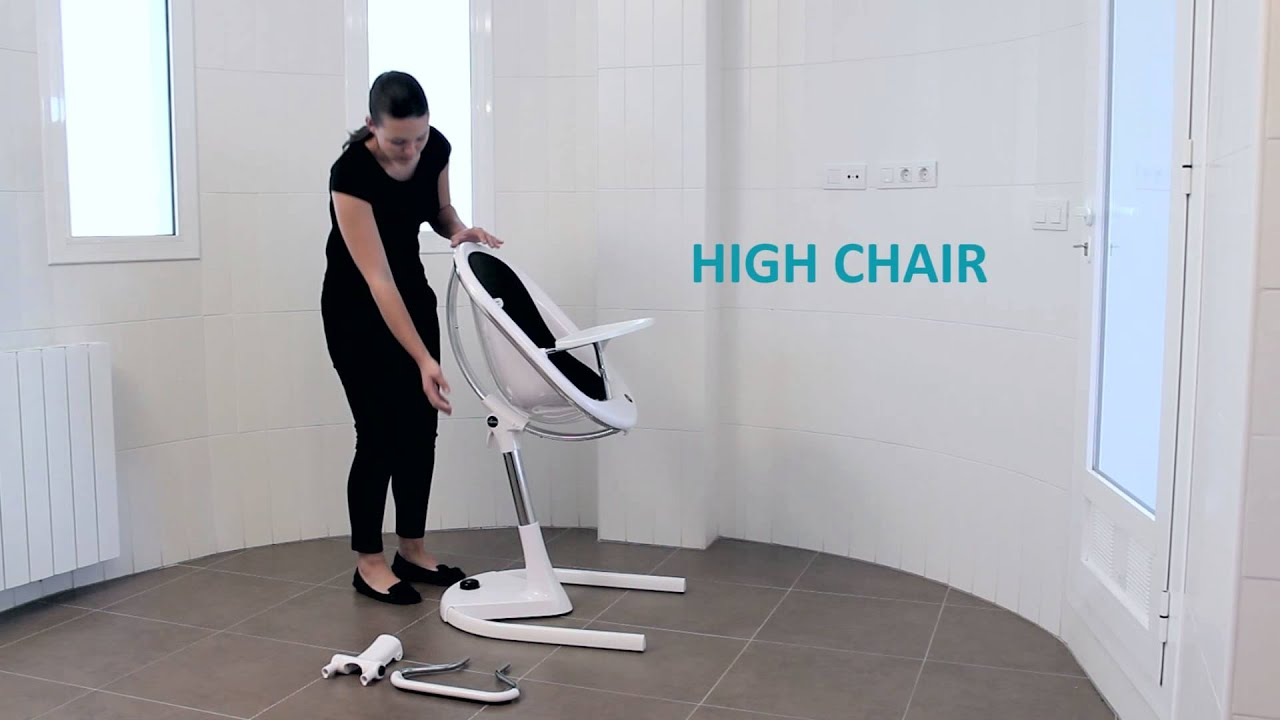 Mima moon highchair instruction video youtube for Chaise haute babybjorn