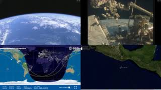 American Coastlines - NASA/ESA ISS LIVE Space Station With Map - 225 - 2018-10-23