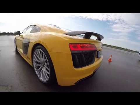 Driving the Audi R8 V10 Plus at Audi
