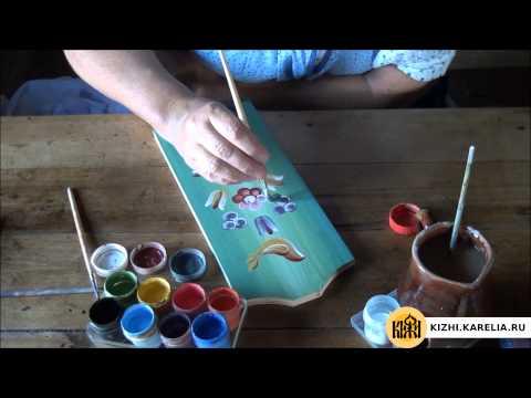 Вопрос: Как рисовать красками по дереву?