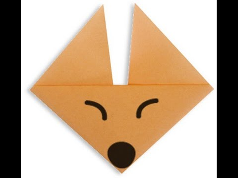 How To Make Origami Fox Face Youtube