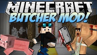 Minecraft | BUTCHER! (Meat Hooks, Cleavers, Barbecues & More!) | Mod Showcase thumbnail