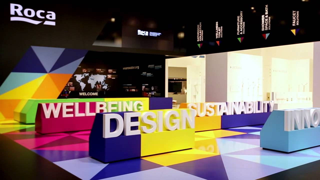 Trade Fair Stands Design : Roca trade fair stand at ish youtube