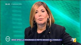 Omnibus - Renzi sfida la minoranza e mette Grasso all