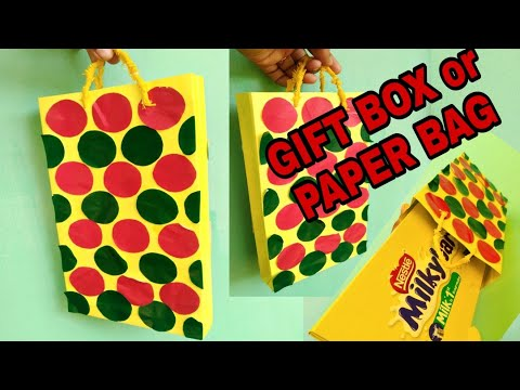 How to make paper bag || DIY gift box || how to make designer bag || paper bag making ||