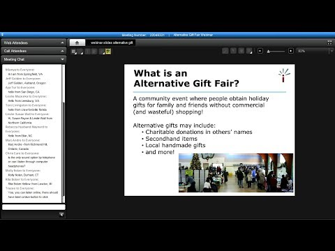 Webinar Recording: How to Organize an Alternative Gift Fair
