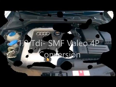 audi a3 1 9 tdi valeo 4p kit single mass flywheel conversion youtube. Black Bedroom Furniture Sets. Home Design Ideas