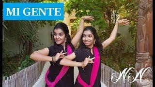 Mi Gente - Indian Classical Version | Bharathanatyam Dance Choreography | Nidhi and Neha
