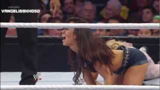 AJ Lee Wardrobe Malfunction- WWE Smackdown 1/11/13