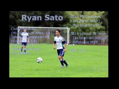 Ryan Sato  College Soccer Recruiting Video  Class of 2018