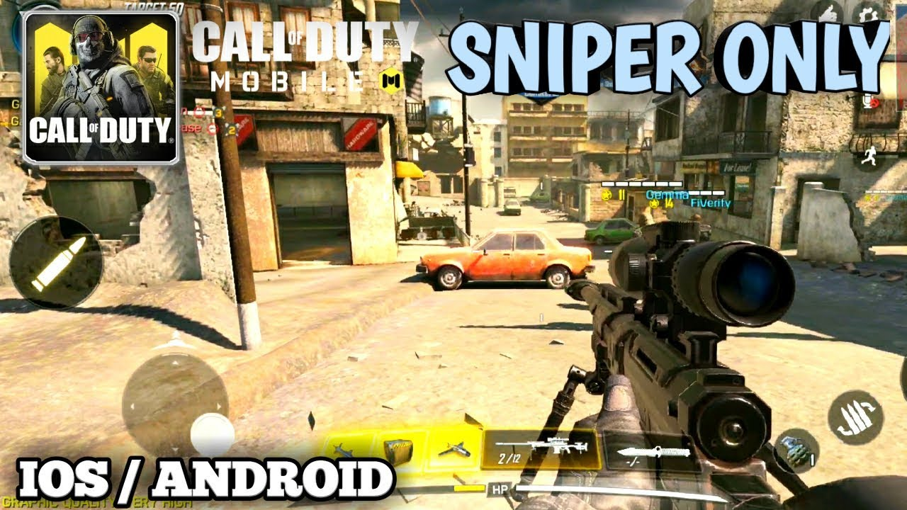 CALL OF DUTY MOBILE - SNIPER ONLY - Gameplay Full HD 60 FPS (Android/IOS)