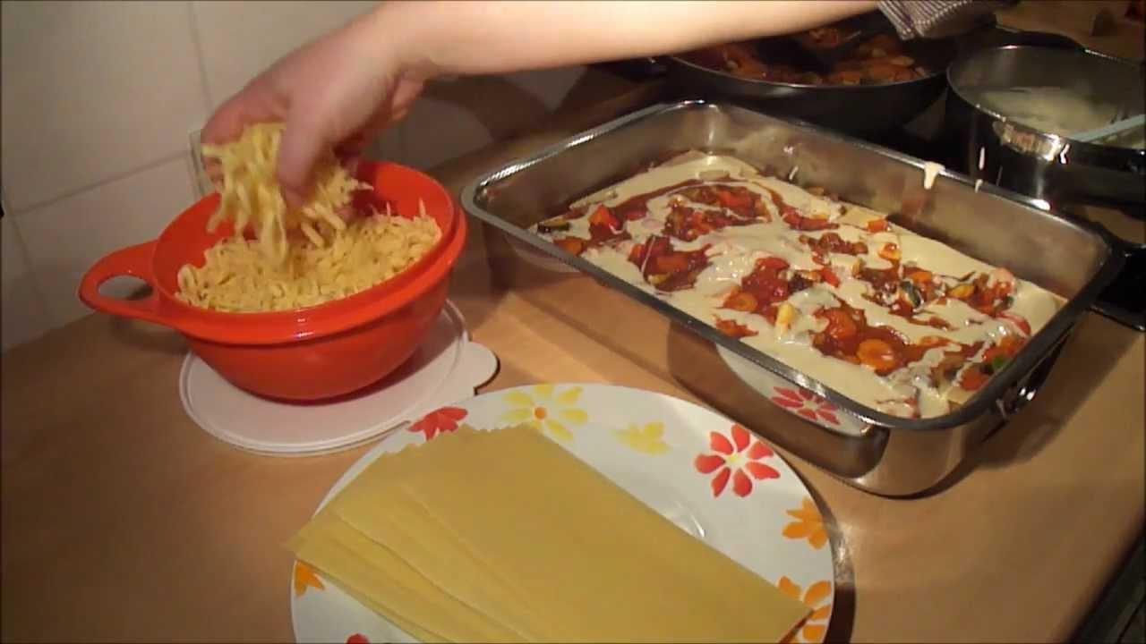 vegetarische lasagne gemüse
