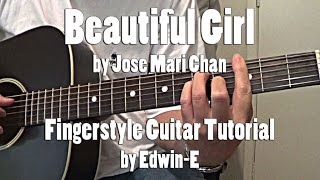 "Guitar Tutorial: ""Beautiful Girl"" (with TABS) by Jose Mari Chan - Fingerstyle Tutorial Cover"