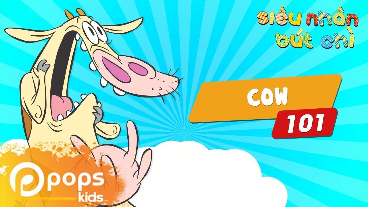 Hướng Dẫn Vẽ Cow - Siêu Nhân Bút Chì - Tập 101 - How to draw Cow (From Cow & Chicken)