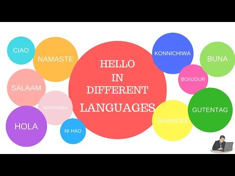 HOW TO SAY HELLO IN DIFFERENT LANGUAGES WITH PRONUNCIATION !