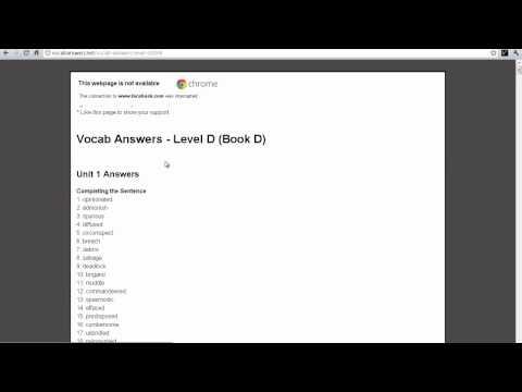 Vocabulary Workshop Vocab Answers NO SURVEYS YouTube