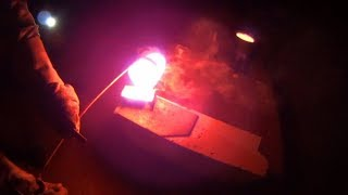 Making Copper Ingots ''BABIES'' From Scrap at night ( More stocking bars for my retirement )
