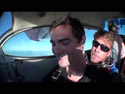 Skydiving on the Magnetic Coast