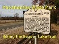 Hiking Beaver Lake Trail, Pocahontas State Park, VA. 11-25-17
