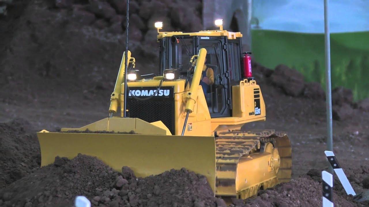 Construction Site Soil : Rc dozer komatsu d at the construction site levelling