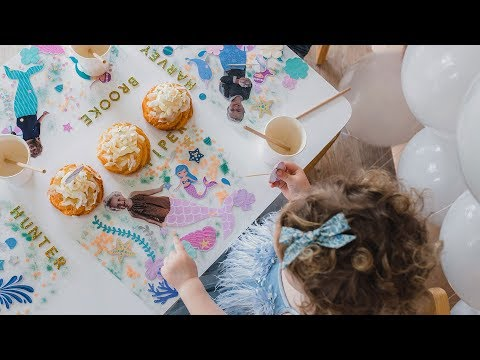 DIY Party Placemats by Clever Poppy