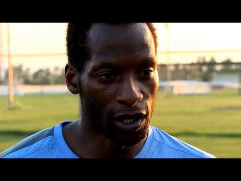 England U20 training session prior to England v Iraq with ex England International Ugo Ehiogu