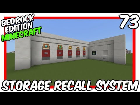 Minecart Storage Recall System Bedrock Edition