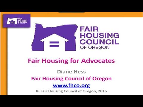 Fair Housing 101 - February 8, 2017