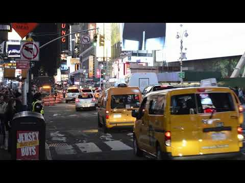 Travel in the United States   New York Night view   4K UltraHd