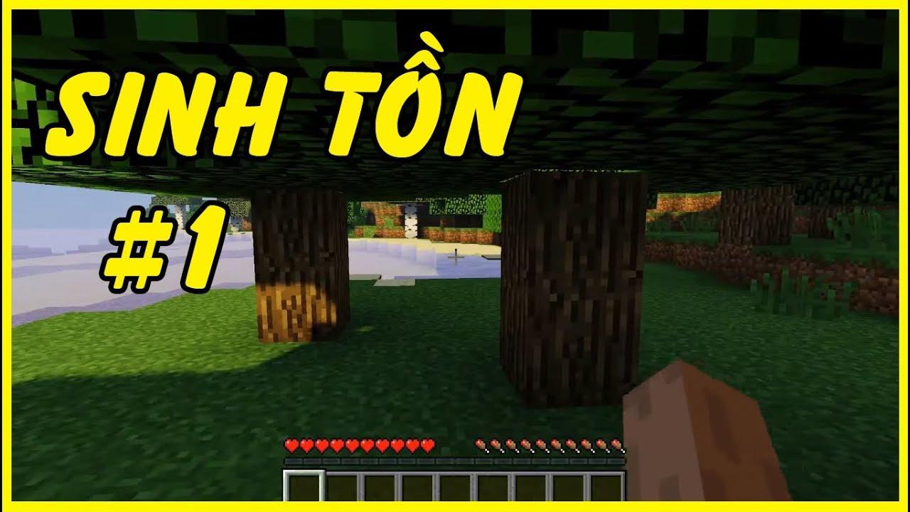 Download NOOB Khởi Đầu Sinh Tồn - Minecraft Survival #1