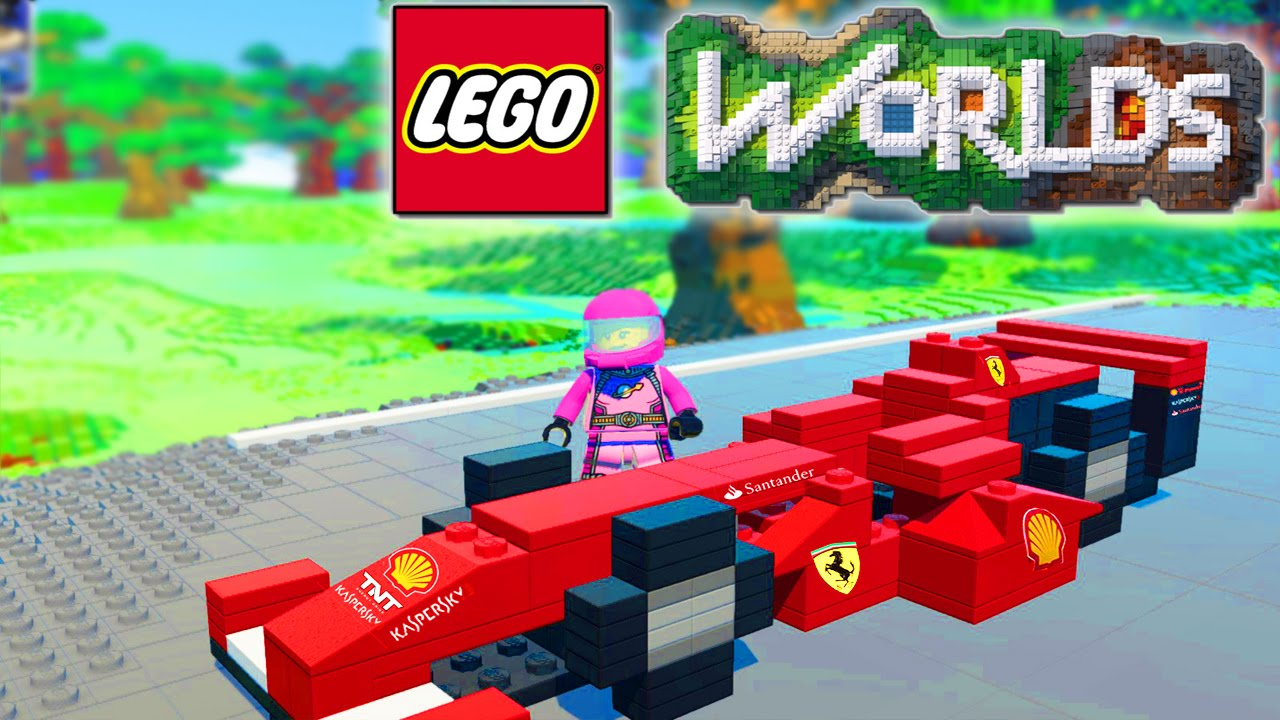 LEGO WORLDS - RACETRACK BUILD! Car Racing In Lego Land #18 (Lego ...
