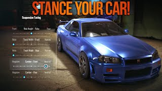 Need for Speed 2015 How to Stance & Remove Parts of your Car! (NFS Tips)