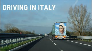 Driving through Italy