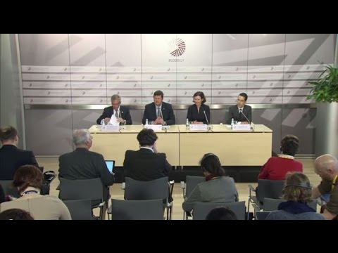 Press conference following the Informal Meeting of Environment and Energy Ministers