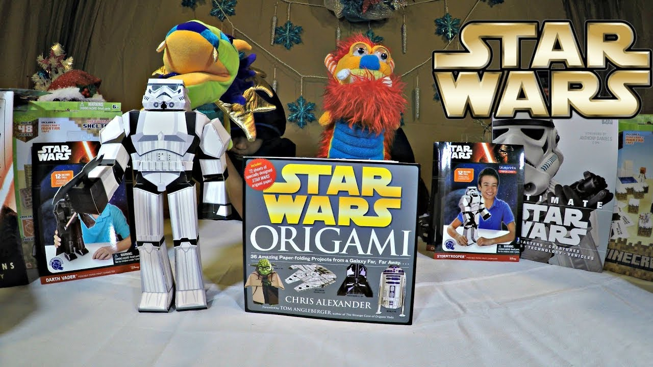 star wars origami papercraft book review chris alexander