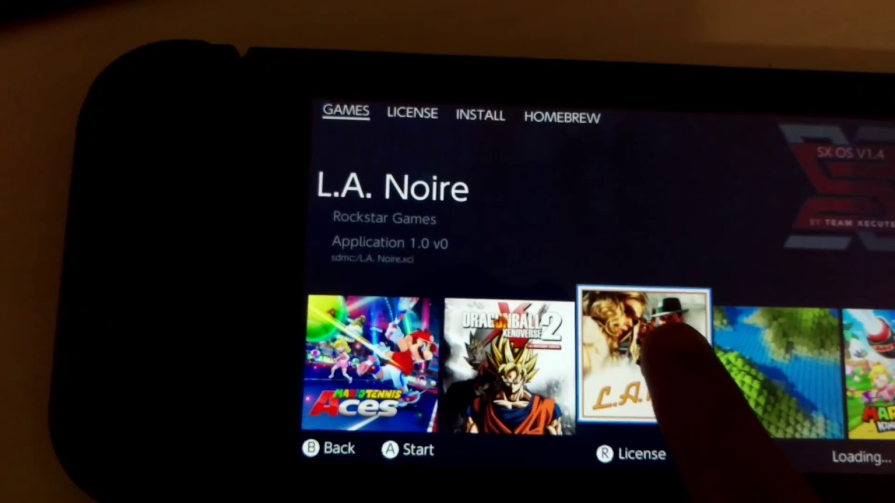 Switch SX OS v 1 4 update L A  Noire  xci file working