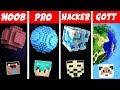 Minecraft NOOB vs  PRO vs  HACKER vs  GOTT  PLANETEN BAUEN in Minecraft