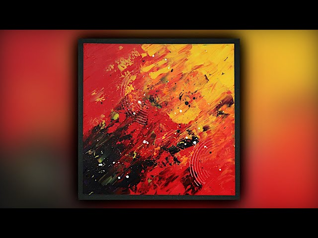 Abstract Painting / Satisfying / Acrylics / Palette Knife / Demo #106