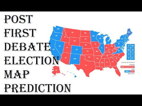 Presidential Election Predictions Electoral College - Us electoral map prediction