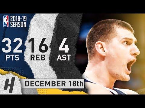 Nikola Jokic Full Highlights Nuggets vs Mavericks 2018.12.18 - 32 Pts, 4 Ast, 16 Rebounds!