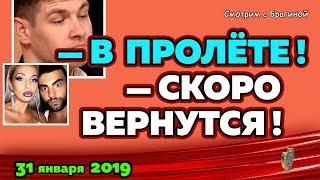 """Дмитренко в ПРОЛЁТЕ! Новости """"ДОМ-2"""" на 31 января 2019."""