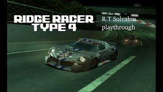 Ridge Racer Type 4 - R.T Solvalou playthrough