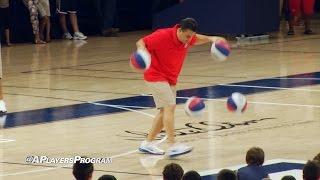 Sean Miller Dribbling 4 Basketballs For 20 Seconds