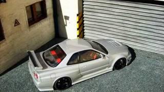 Custom JDM Garage Diorama