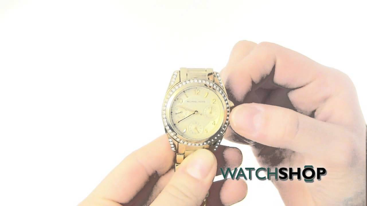 8b9c3bca190a Michael Kors Ladies  Mini Blair Watch(MK5639) - YouTube