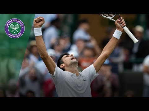 Novak Djokovic vs Karen Khachanov 4R Highlights   Wimbledon 2018