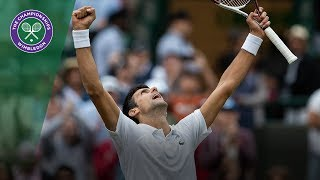 Novak Djokovic vs Karen Khachanov 4R Highlights | Wimbledon 2018
