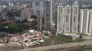 Ariel view of Panama from Helicoptor